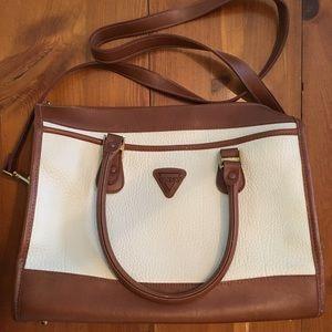 Vintage Guess Purse White and Brown Handbag